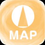 子育てをサポートする施設のイラストMAP